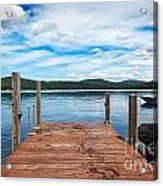 Dock On Summer Lake Acrylic Print