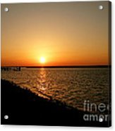 Dock On The Bay Sunset Acrylic Print