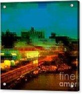Dock On The East River - New York Acrylic Print