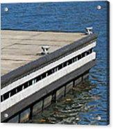 Dock On The Lake Acrylic Print