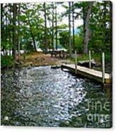 Dock Side Camping Acrylic Print