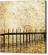 Dock Acrylic Print by Skip Nall