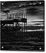 Dock Sunset Bw1 Acrylic Print