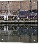 Dock Wall Acrylic Print by Mark Rogan