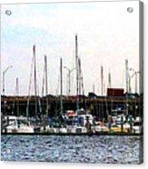 Docked Boats Norfolk Va Acrylic Print