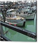 Docked Boats Acrylic Print