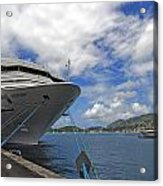 Docked In St. Thomas  The Virgin Islands Acrylic Print