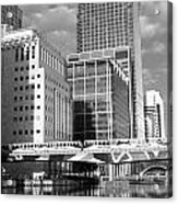 Docklands London Mono Acrylic Print