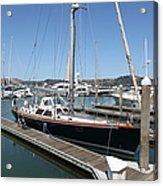 Docks At Sausalito California 5d22688 Acrylic Print by Wingsdomain Art and Photography