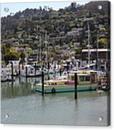 Docks At Sausalito California 5d22697 Acrylic Print by Wingsdomain Art and Photography
