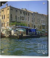 Docks On The Grand Canal Acrylic Print