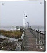 Dockside Fog Acrylic Print