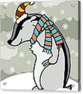 Doctor Derby Winter Acrylic Print by Christy Beckwith