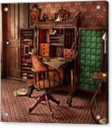 Doctor - Desk - The Physician's Office  Acrylic Print by Mike Savad