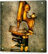 Doctor - Microscope - The Start Of Modern Science Acrylic Print by Mike Savad