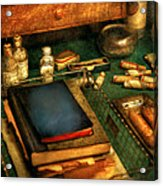 Doctor - The Busy Doctor Acrylic Print by Mike Savad