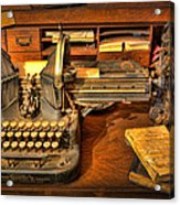 Doctor - The Physician's Desk  Acrylic Print