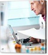 Doctor Working Acrylic Print