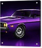 Dodge Challenger Hemi - Shadow Acrylic Print by Marc Orphanos