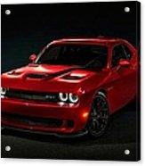 Dodge Challenger S R T Hellcat Acrylic Print