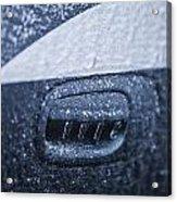 Dodge Charger Frozen Car Handle Acrylic Print