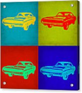 Dodge Charger Pop Art 2 Acrylic Print