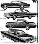 Dodge Rebellion '67 Acrylic Print