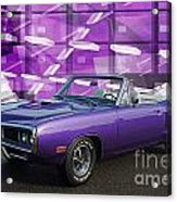 Dodge Rt Purple Abstract Background Acrylic Print