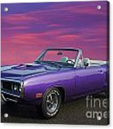 Dodge Rt Purple Sunset Acrylic Print