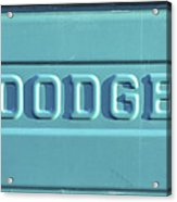 Dodge Truck Tailgate Acrylic Print