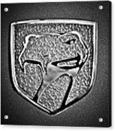 Dodge Viper Emblem -217bw Acrylic Print