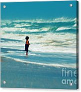 Does The Ocean Ever Stops Acrylic Print