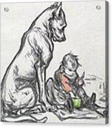 Dog And Child Acrylic Print by Robert Noir