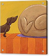 Dog And Turkey Acrylic Print by Christy Beckwith