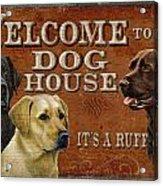 Dog House Acrylic Print by JQ Licensing