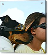 Dog Is My Co-pilot Acrylic Print
