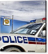 Dog River Police Car Acrylic Print
