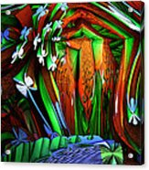 Dog Shrine With Flowers Acrylic Print by Ned Haw