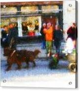 Dog Sleigh Ride Acrylic Print