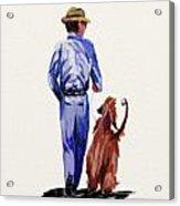 Dog Walker Acrylic Print