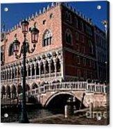 Doges Palace With Bridge Of Sighs Acrylic Print
