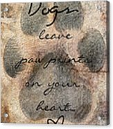 Dogs Leave Paw Prints On Your Heart Acrylic Print