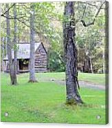 Dogwood Cabin Acrylic Print