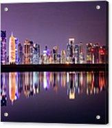 Doha Skyscrapers Acrylic Print