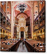 Dohany Street Synagogue In Budapest Acrylic Print