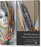 Doll With Roses 010111 Comp Acrylic Print