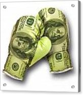 Dollar Gloves-2 Acrylic Print