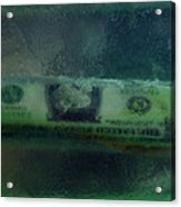 Dollar Note Life Destiny Fate Living In The Soap Acrylic Print