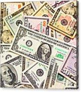 Dollars Background.  Acrylic Print