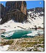 Dolomites - Pisciadu' Peak Acrylic Print